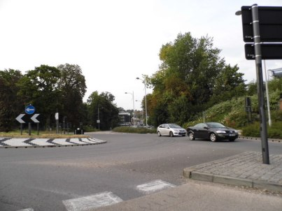 "The roundabout at Marlpit Lane: a second access road from Cane Hill, and away from this often congested junction, is ""essential"" for Coulsdon"