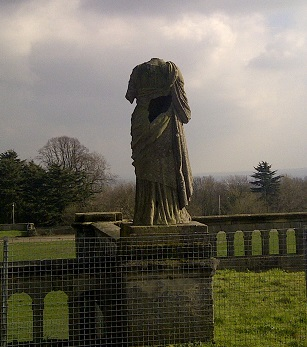 One of the neglected statues from the original Crystal Palace on the terraces overlooking the park