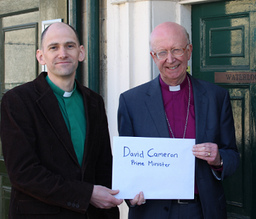 The Bishop of Oxford and Rev Hebden: Cameron's office called out the police when they turned up to deliver a petition. Wasting police time?