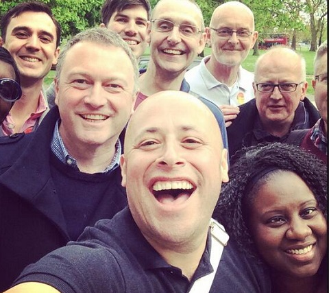 """Steve Reed OBE, to the left of the picture, if not of the Labour Party, canvassing with Lambeth's """"Co-operative Council"""" councillor Christopher Wellbelove at the weekend"""