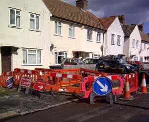 One householder in Waddon getting the benefit of council work to provide a dropped kerb, and just before an election, too