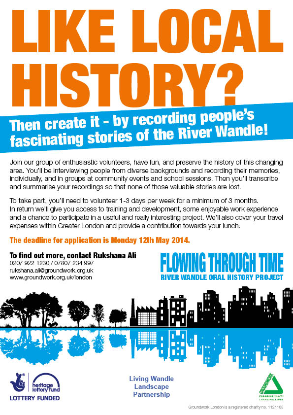 Wandle History Volunteer poster-WEB