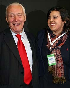Councillor Emily Benn, pictured with her late grandfather Tony