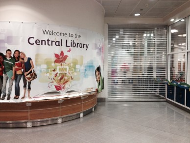 "Shuttered up: the ""welcoming"" site at Central Library, run by Carillion"