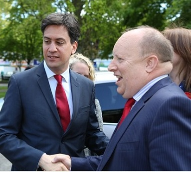 Croydon Labour's Tony Newman, right, meeting another senior Labour figure with leadership issues