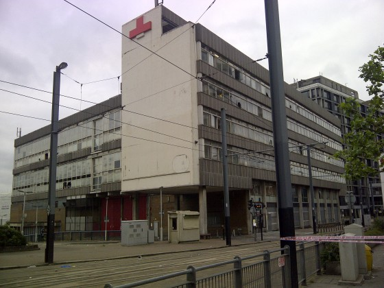 Cordoned off: the scene at East Croydon this morning