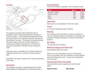 How Croydon Council had the old Ashburton Library marketed for sale last autumn
