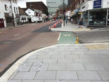 """Space for cycling? Not after the """"improvement"""" works on South End were completed"""