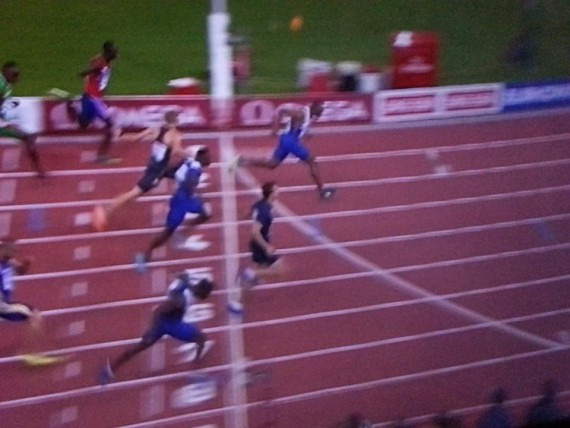 Dasaolu is the clear winner, with Harry A-A in lane five getting the bronze with his finishing dip