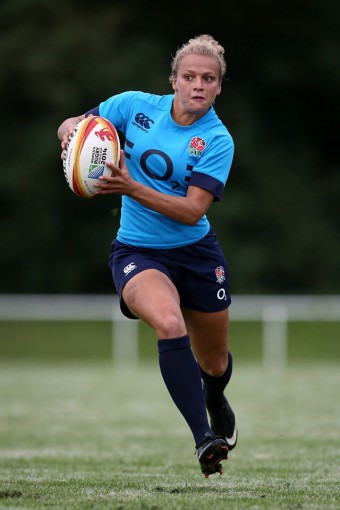 England wing Kay Wilson: began her rugby career playing at Hamsey Green