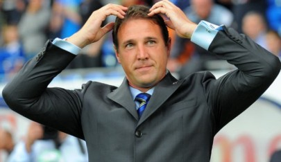 Doing the Mo-Bot: Malky Mackay, a big fan of Olympic runner Mo Farah, apparently