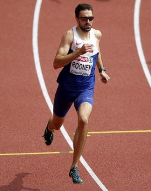 Golden wonder: Martyn Rooney on his way to winning European gold tonight