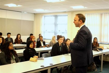 Visits to schools are a mainstay of MP Gavin Barwell's website