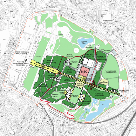 How Crystal Palace Park could look according to a map provided by the CSM-run consultation. Notice the absence of a track. Or indoor training area...