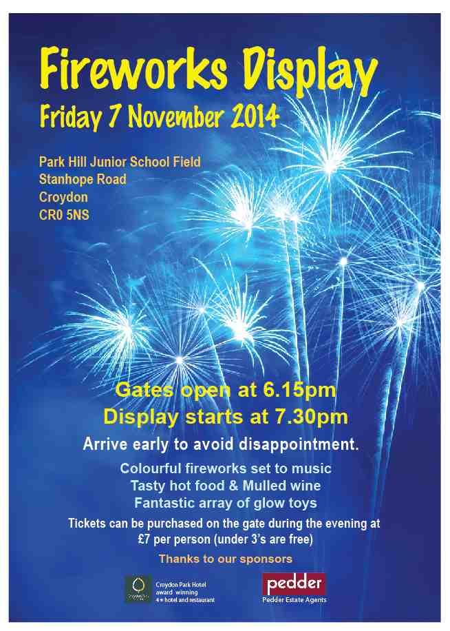 park hill junior school fireworks display nov 7 inside croydon