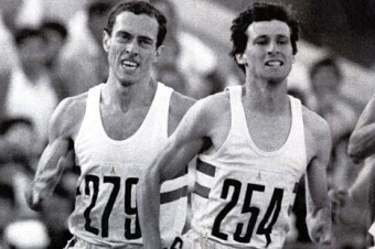Track rivals: Steve Ovett (left) and Sebastian Coe when they bestrode the tracks of the world, trading world records