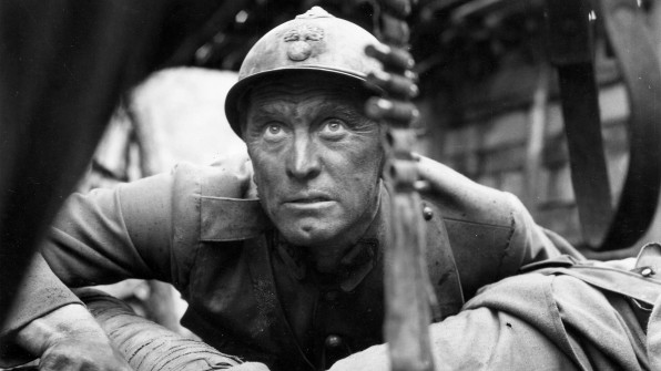 Kirk Douglas stars in the classic anti-war movie Paths of Glory