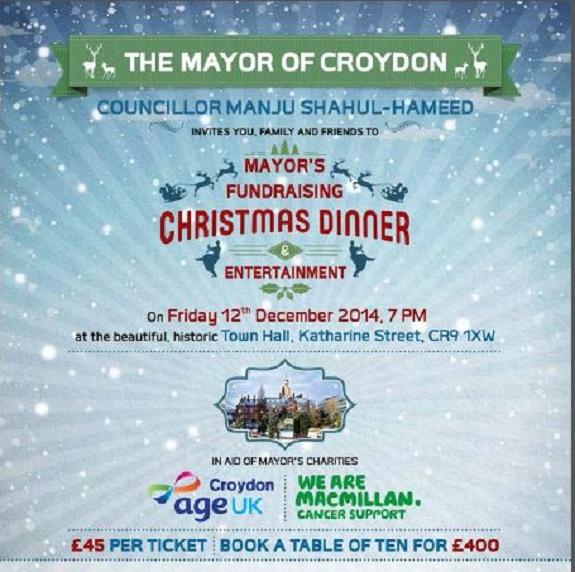 Mayor's Christmas dinner
