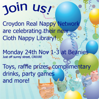 Nappy library launch poster 2