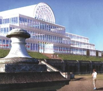 """So to be gone? The ZhongRong """"glass house"""" proposal. The Chinese industrialists group has until close of play today to lodge a £5m guarantee with Bromley"""