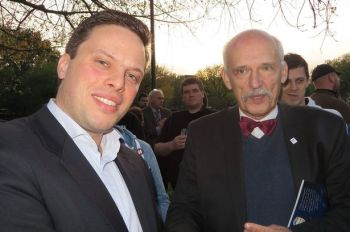 Purley UKIP member Przemek Skwirczynski seems happy enough consorting with the Polish bigot,