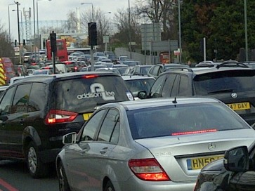 Traffic congestion on the Purley Way: TfL's got a scheme to speed cars on their way towards Croydon's shopping centre