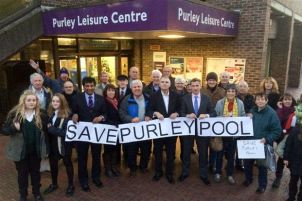 The Tory-led campaign to save Purley Pool, including councillors who were part of the decision to close the the pool in 2014