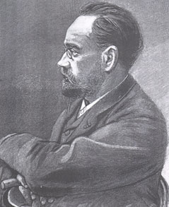 Emile Zola, from an engraving of around 1898