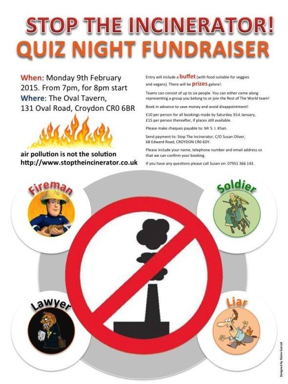 Incinerator fundraiser