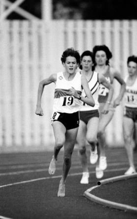 Zola Budd in action at Crystal Palace: worth another blue plaque