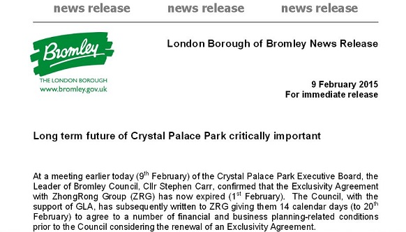 Bromley press release