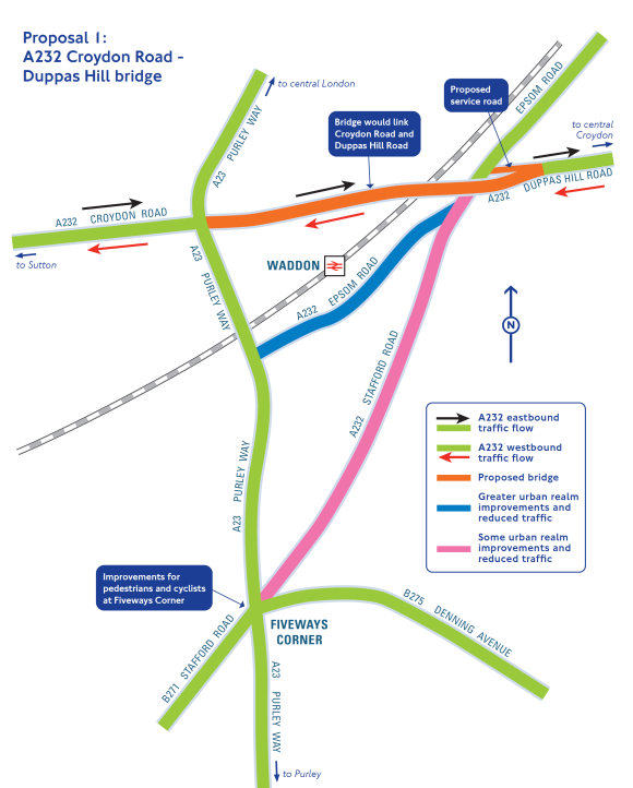 TfL's sketchily detailed sketch map of how the flyover to the Flyover might work
