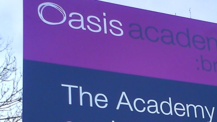 Oasis academy sign