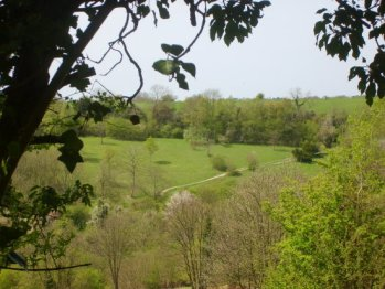 A view of Happy Valley, part of the downland to be explored by walkers and historians