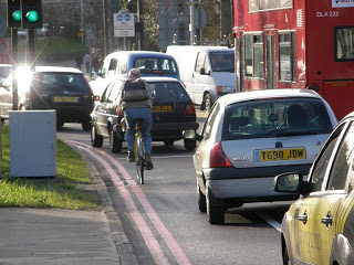 This is how cycling in Croydon is most of the time at present
