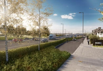"What TfL calls a ""possible"" view of Duppas Hill Road. The flyover, conveniently, is barely visible in the distance"