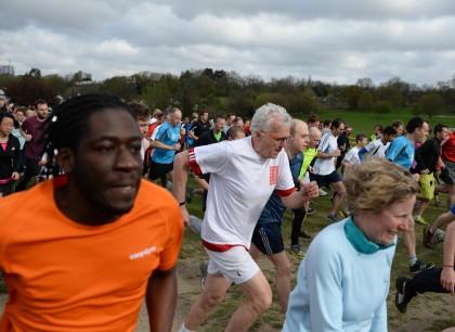 Running for London Mayor: Christian Wolmar took part in last Saturday's Lloyd Park ParkRun as part of his visit