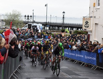Action from the pro cycle tour event last year