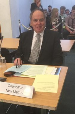 """Sutton councillor Nick Mattey, isolated by the LibDems on the """"naughty step"""" at the last Sutton Council meeting for revealing secret details of the incinerator schemes"""