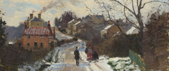 Pissarro, the French impressionist painter, painted a number of scenes around Croydon when he lived here in the 1870s: this is of Fox Hill, Upper Norwood