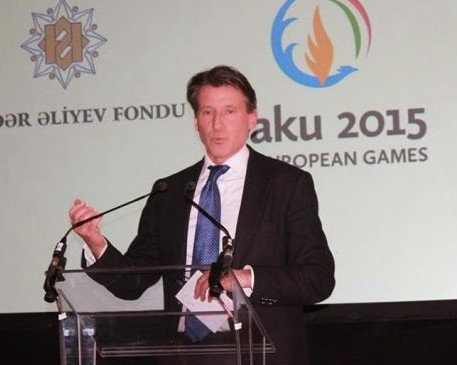 Backing Baku: Seb Coe, chairman of the BOA and of CSM, does not seem to choosy about the company he keeps