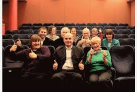 Winchester and other members of the Campaign team celebrate the re-opening of the David Lean Cinema last year