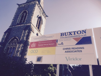 The Holy Trinity, sponsored by Viridor: signs went up in the past week acknowledging the incinerator operators' largesse in Wallington