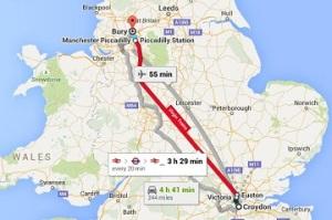 Bury: a long way from Croydon