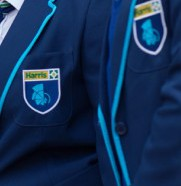 Harris blazer badge