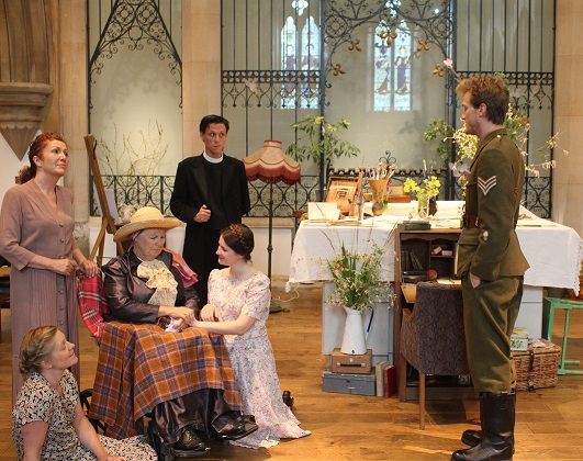 A scene from David Matthews' new play about the life and work of Cicely Mary Barker. The cast includes: