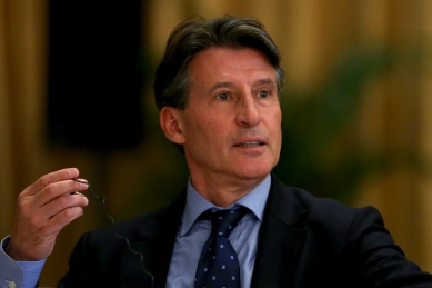 Lord Coe in Beijing yesterday: challenged to match his words with actions at Crystal Palace. Picture: Getty Images/IAAF
