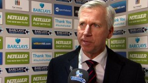 Alan Pardew: the referee needed to be brave