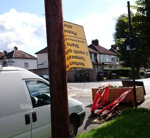 How the Norbury Avenue trial closure has been left by council workmen