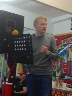 Andrew Fisher, addressing the People's Assembly in Croydon earlier this month